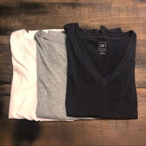 3 Gap Vintage Wash Tee V Neck T-Shirts XS